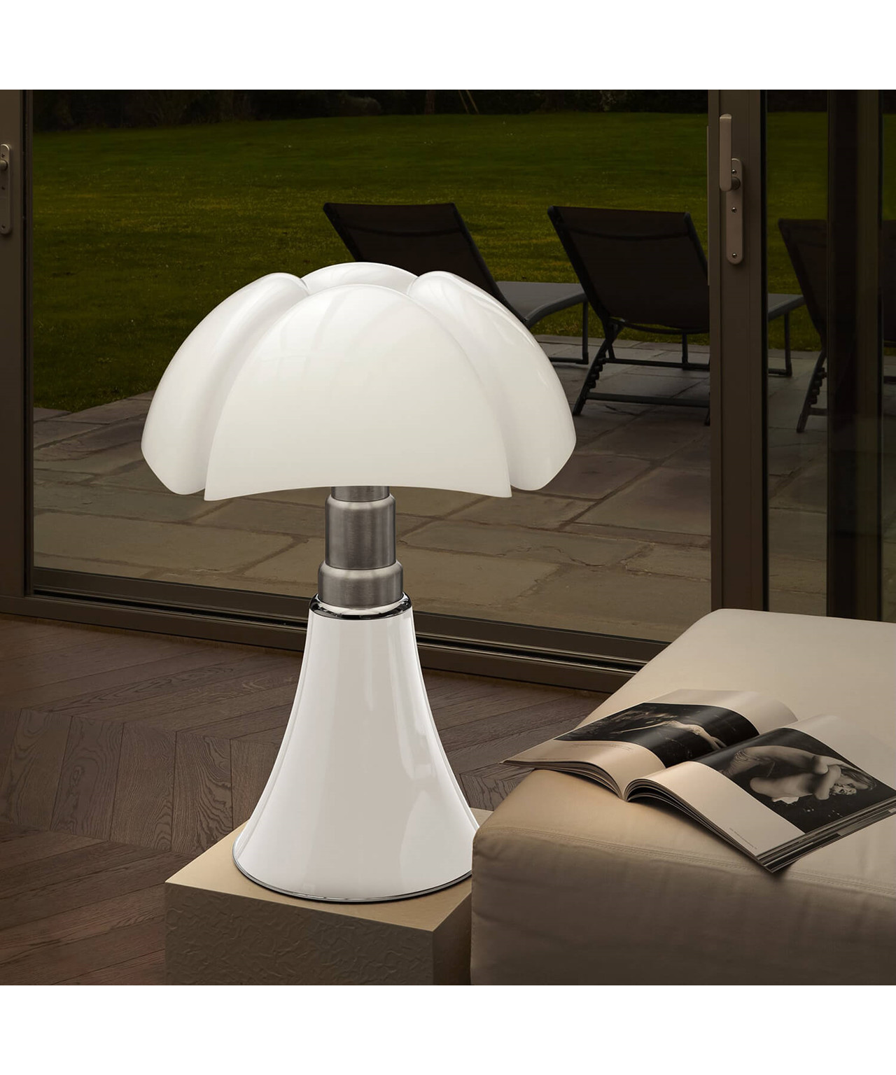 Lampe Pipistrella Pipistrello Medium Table Lamp White Martinelli Luce