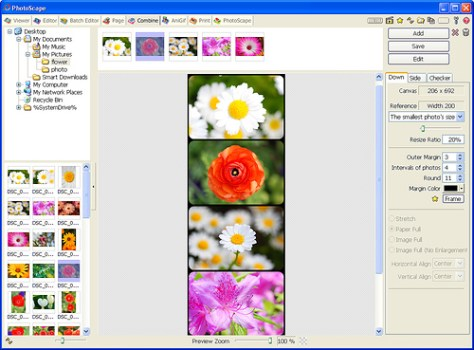 Programa para editar fotos Photoscape. Combine