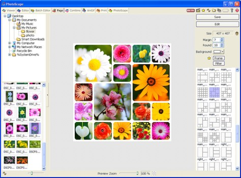Programa para editar fotos Photoscape. Página