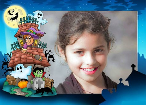 Happy Halloween Photo Effects.
