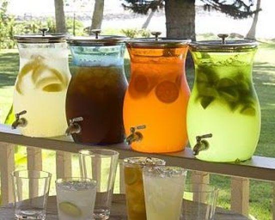 bebidas casamento praia