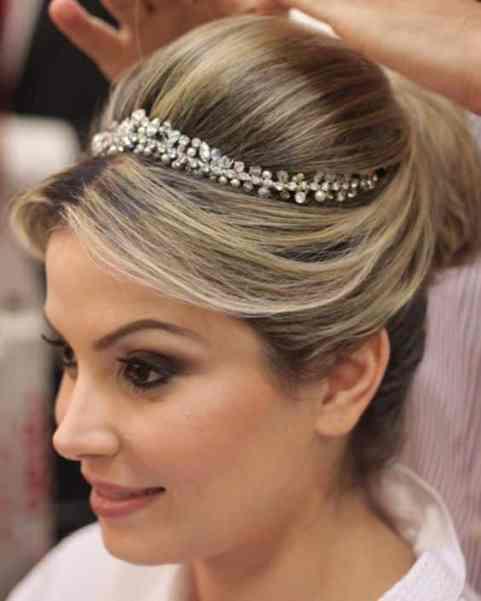 coroa noiva penteado casamento