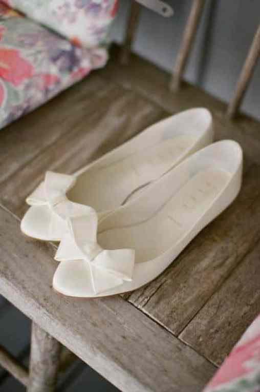 sapatilha de laço noiva