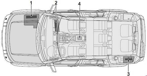 2004-2009 Land Rover Discovery 3 Fuse Box Diagram » Fuse Diagram