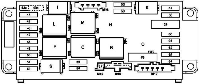 2000-2007 Mercedes W203 (C-Class) fuse box diagram » Fuse Diagram