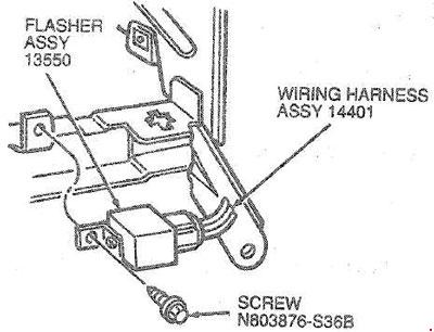 1985-1995 Ford Taurus and Mercury Sable fuse box diagram » Fuse Diagram