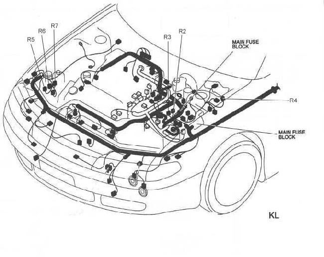 1991 mazda mx 6 fuse box diagram
