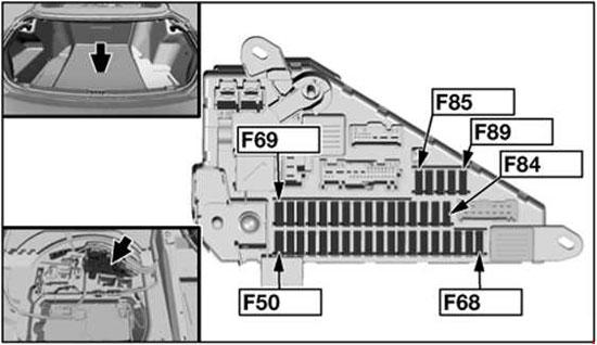 2004-2010 BMW 6 (E63, E64) Fuse Box Diagram » Fuse Diagram