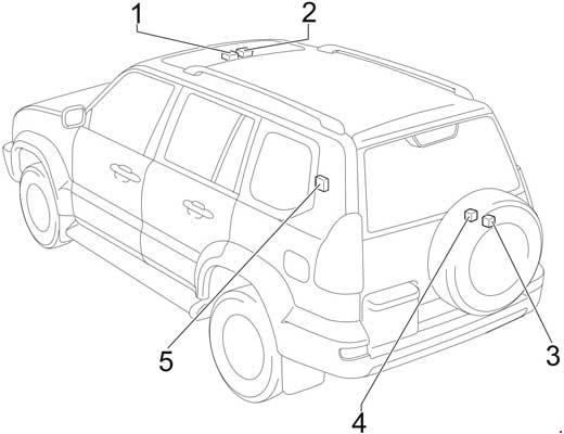 2002-2009 Toyota Land Cruiser Prado (J120) Fuse Box Diagram