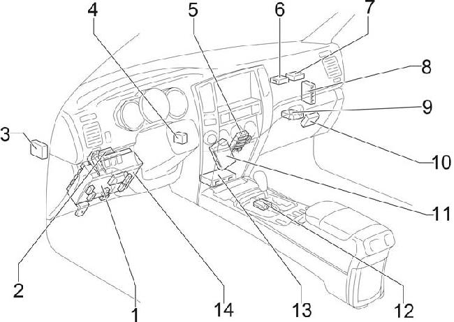 2002-2009 Toyota 4Runner Fuse Box Diagram » Fuse Diagram