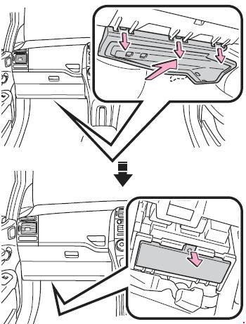 2006-2013 Toyota Corolla (E150) Fuse Box Diagram » Fuse Diagram