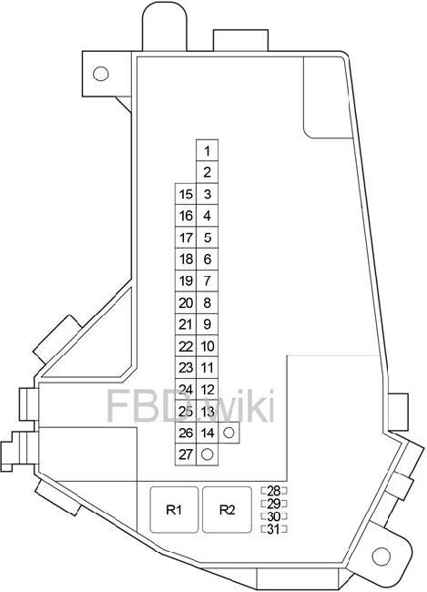 lexus ls 460 fuse box diagram