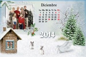 Calendario 2014 Mes Diciembre