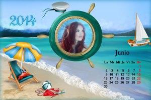 Calendario 2014 Mes Junio