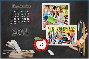 Calendario 2014 Mes Septiembre