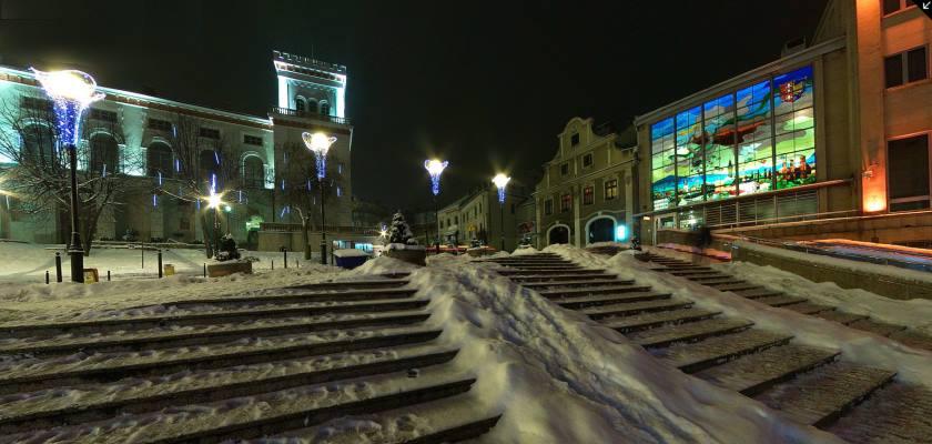 Bielsko-Biała w świątecznej dekoracji w okresie Bożego Narodzenia