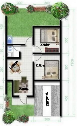 denah 2 kamar tidur (2)