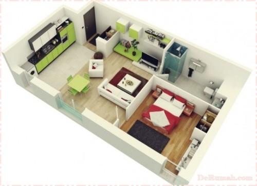 Denah Rumah Minimalis 1 Lantai  (14)
