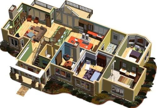 Denah Rumah Minimalis 1 Lantai  (12)