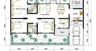 Denah Rumah Minimalis 1 Lantai (7)
