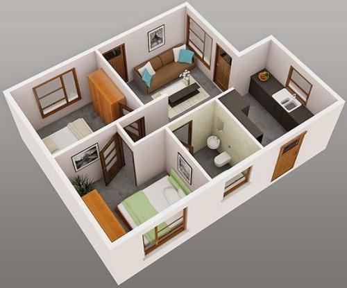 Denah Rumah Minimalis 1 Lantai  (10)