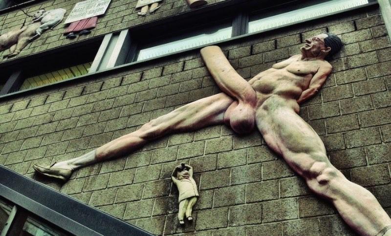 Giant Penis on Rudi Dutschke Straße