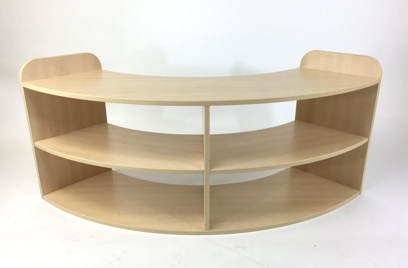 Quarter Curved Shelving Early Years Furniture