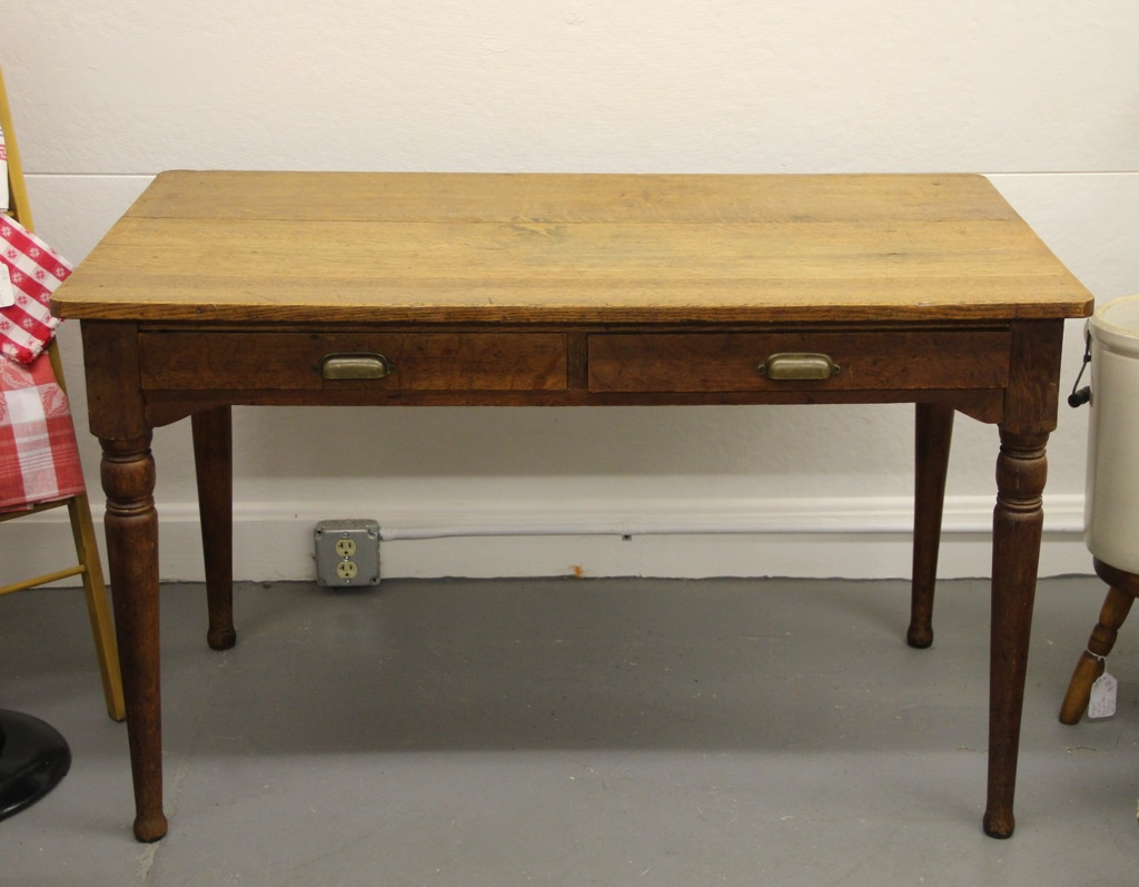 two drawer work or kitchen table dealer 2 kitchen work tables Two Drawer Work or Kitchen Table