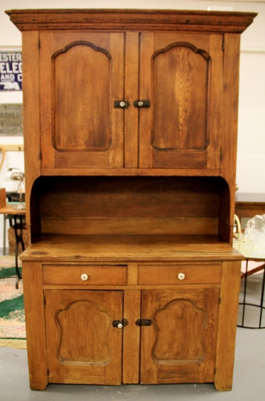 ithaca antique oak kitchen hutch cabinet open door hutch kitchen amish furniture connections
