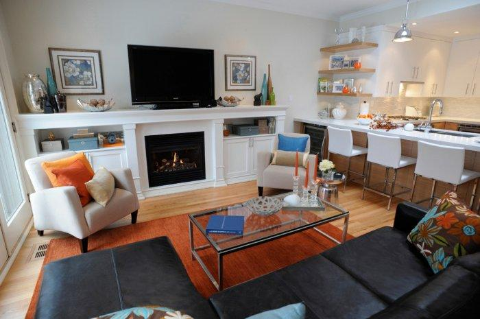 Warm the Living Room According to your Interior Design Founterior - transitional style living room