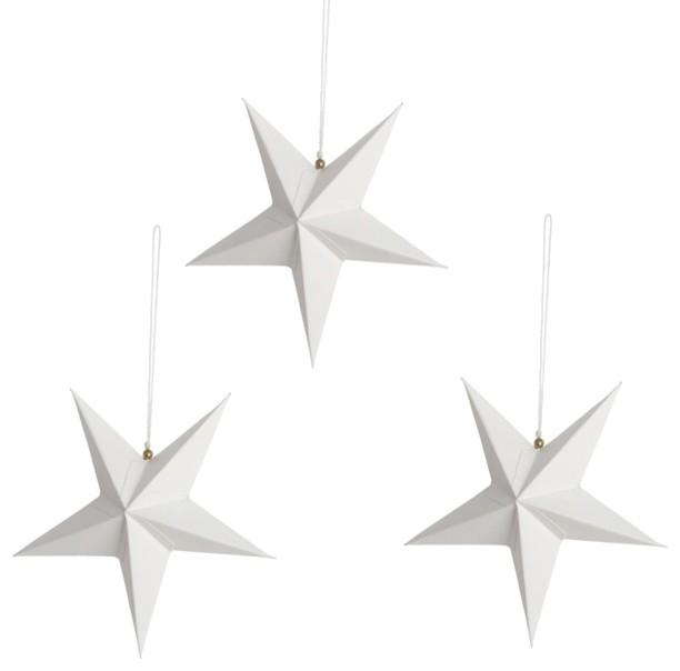 white-Christmas-star-paper-decorations Founterior - christmas star decorations