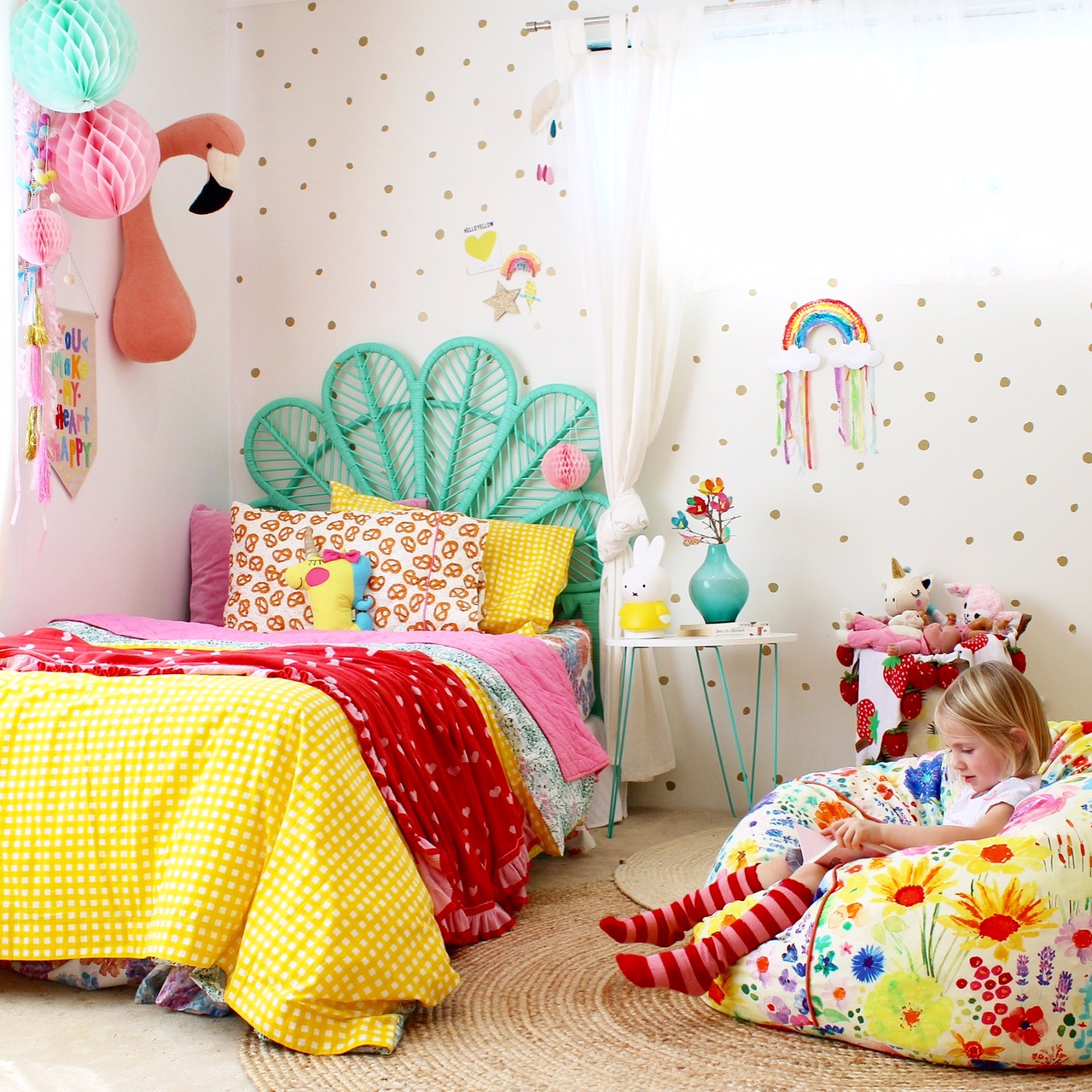 Rainbow Bedroom Ideas Kids Bedroom Ideas Rainbow Retreat Four Cheeky Monkeys