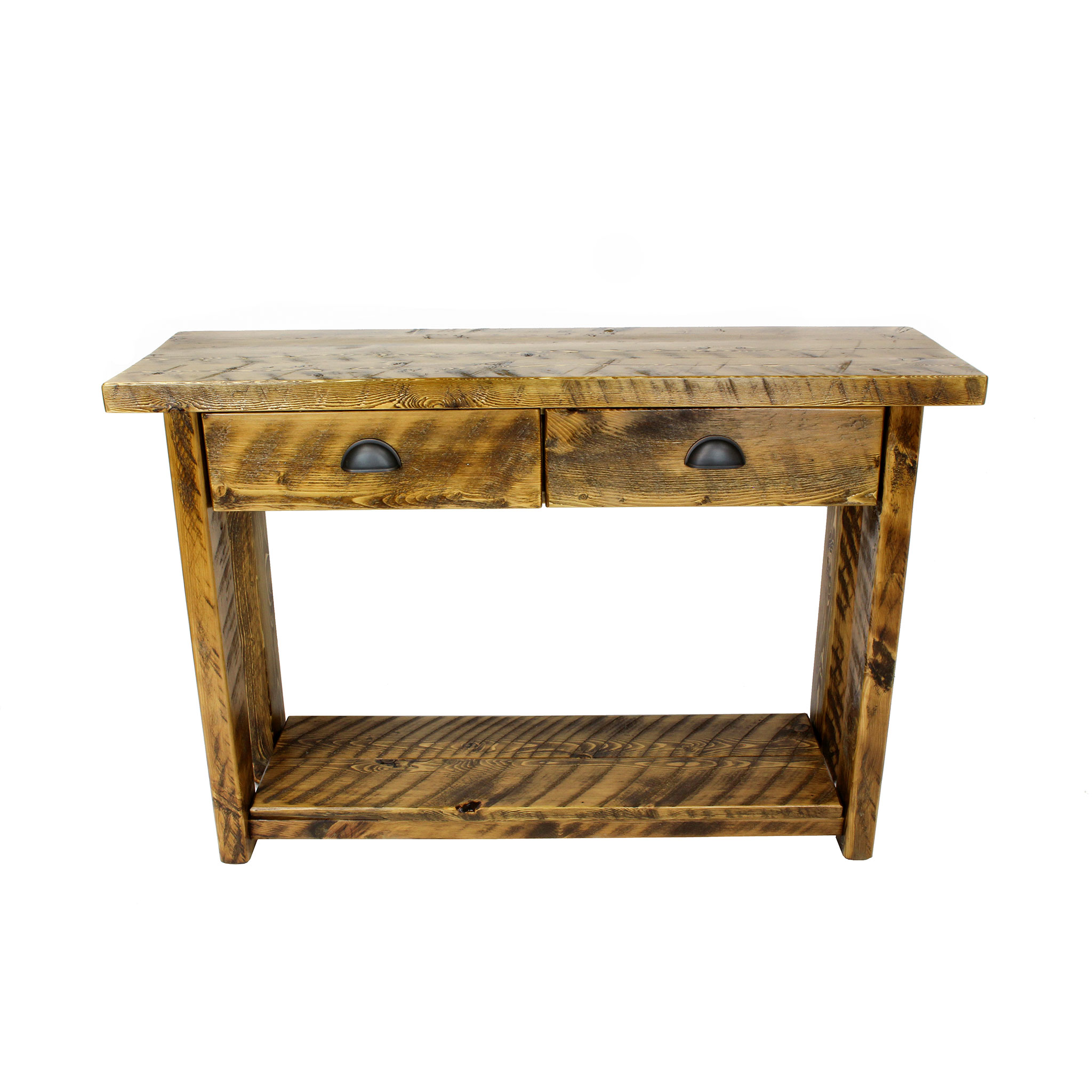 Console With Drawers Rustic Console Table With Drawers Four Corner Furniture