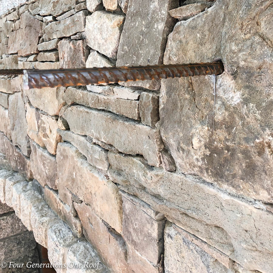6 Ft Fireplace Mantel How To Hang A Wood Mantel On A Stone Fireplace Using Rebar Before