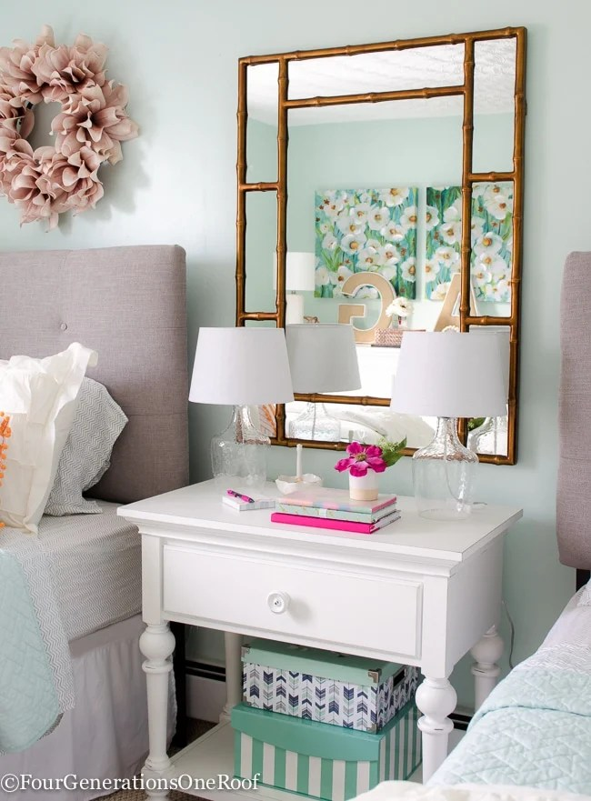 Round Mirror Urban Outfitters Girl Bedroom Makeover Resource List Four Generations One