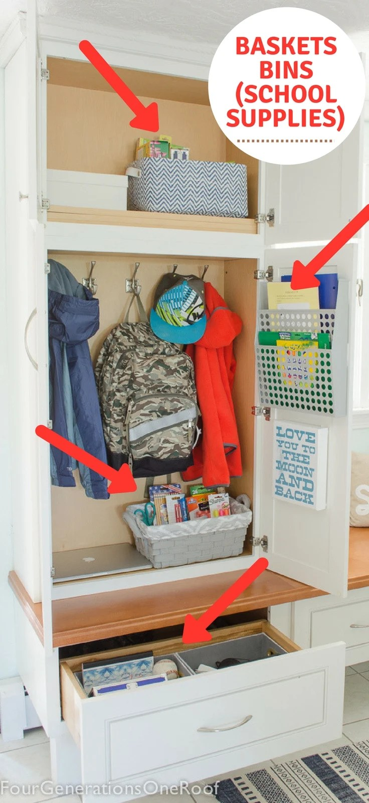 Home Organization How To Make A School Locker At Home Organization 101 Four