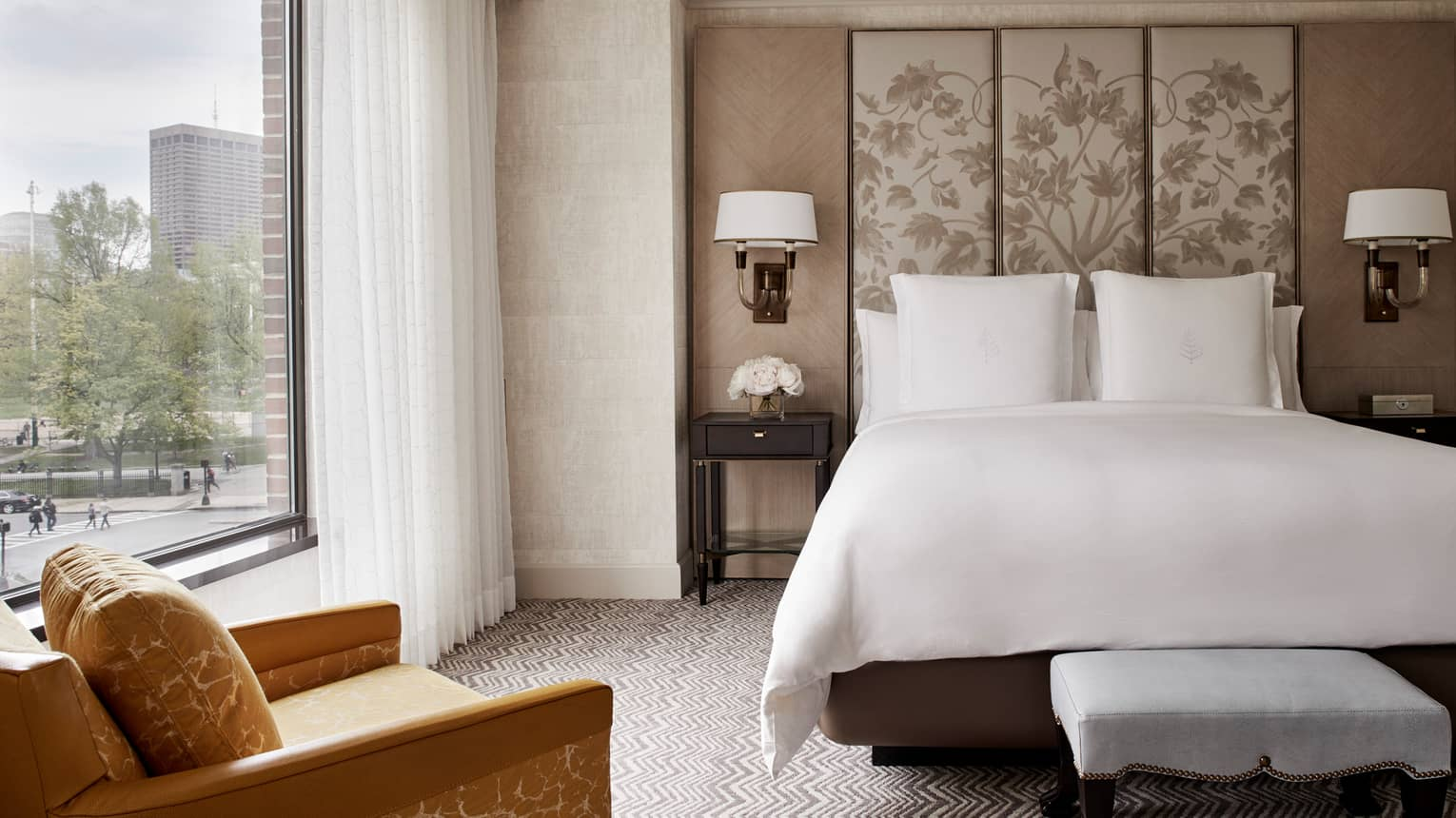 Headboards In Front Of Windows Boston Hotel Suites Rooms Luxury Accommodations Four Seasons