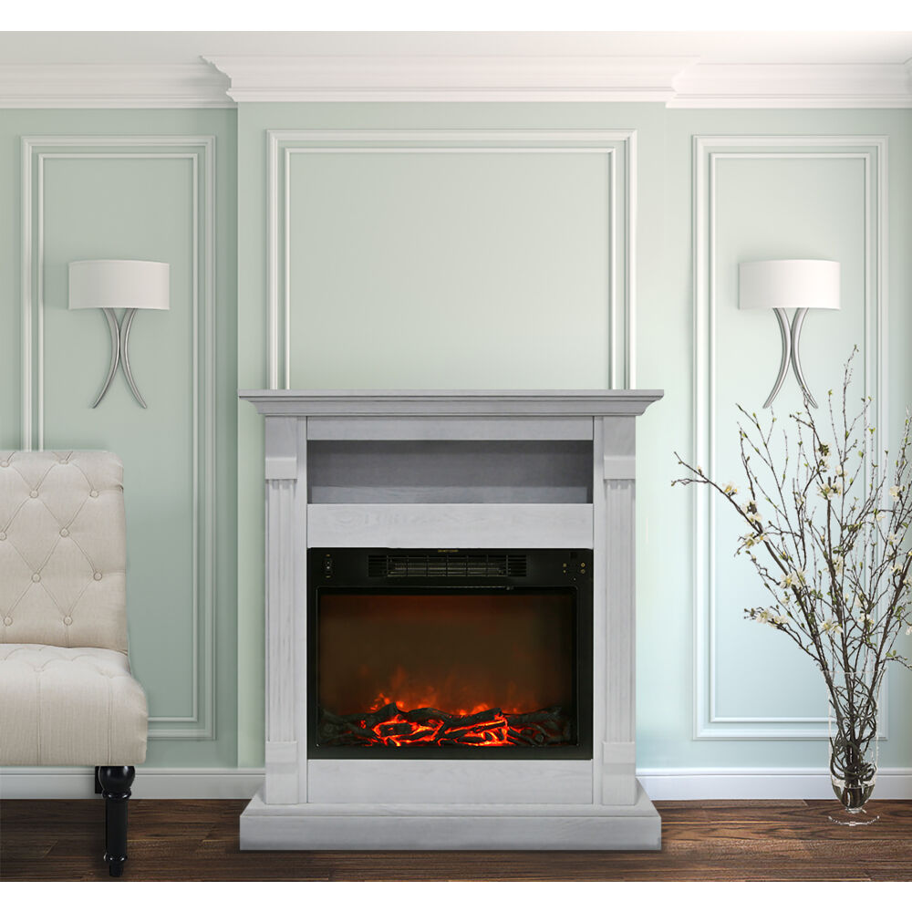 Fireplace Mantel White Sienna Fireplace Mantel With Electric Fireplace Insert In