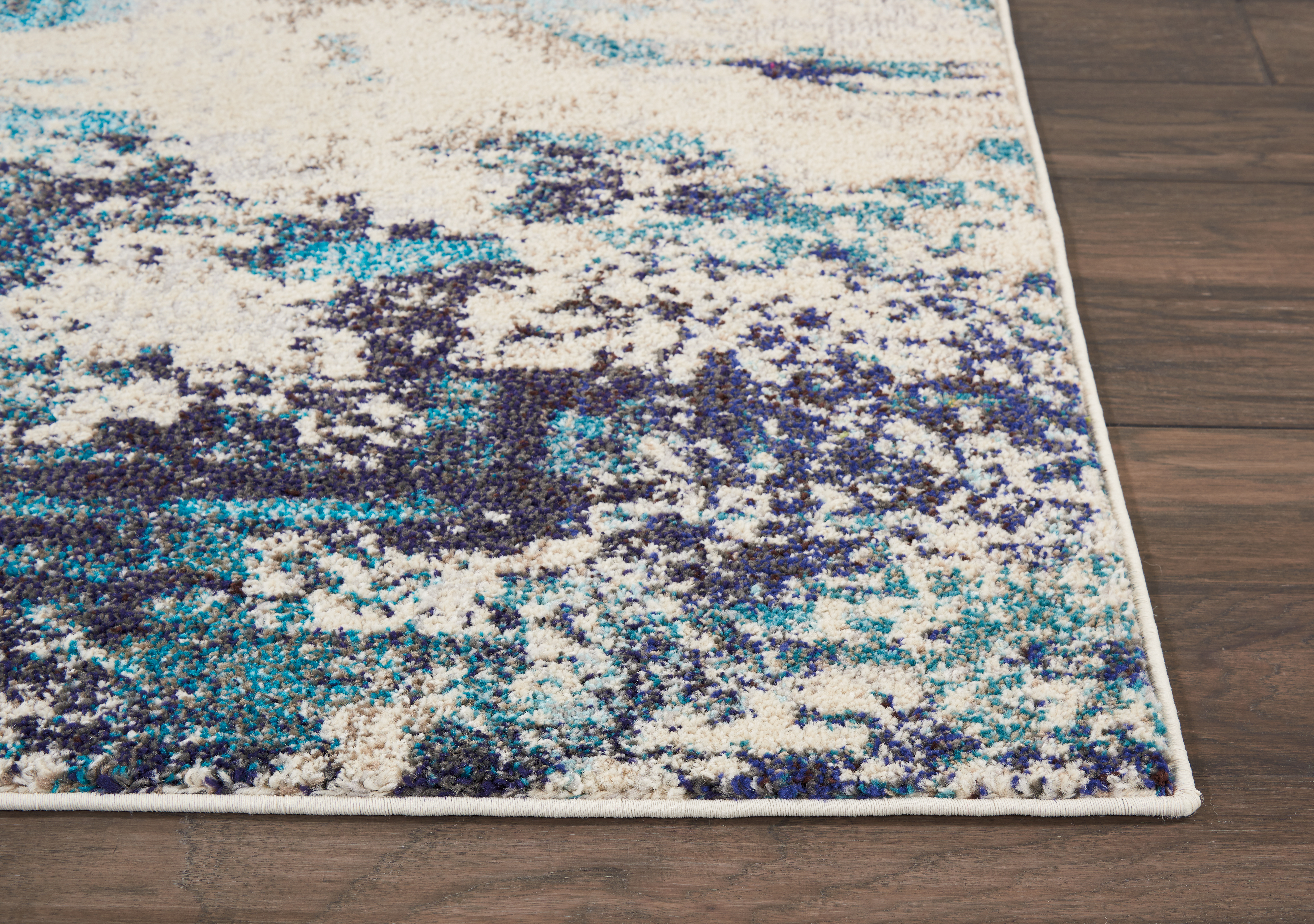 Teal Color Area Rugs Nourison Celestial Ivory Teal Blue Area Rug Ces02