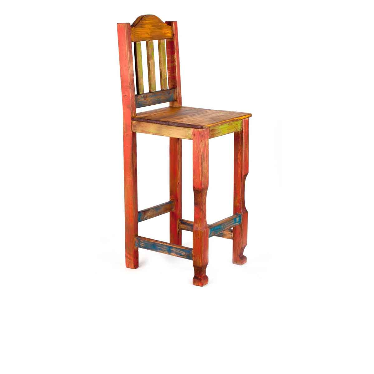 Bright Colored Bar Stools Order Bright And Vibrant Fiesta Rustic Bar Stool Online