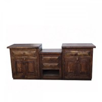Buy Double Sink Vanity Made from Reclaimed Wood