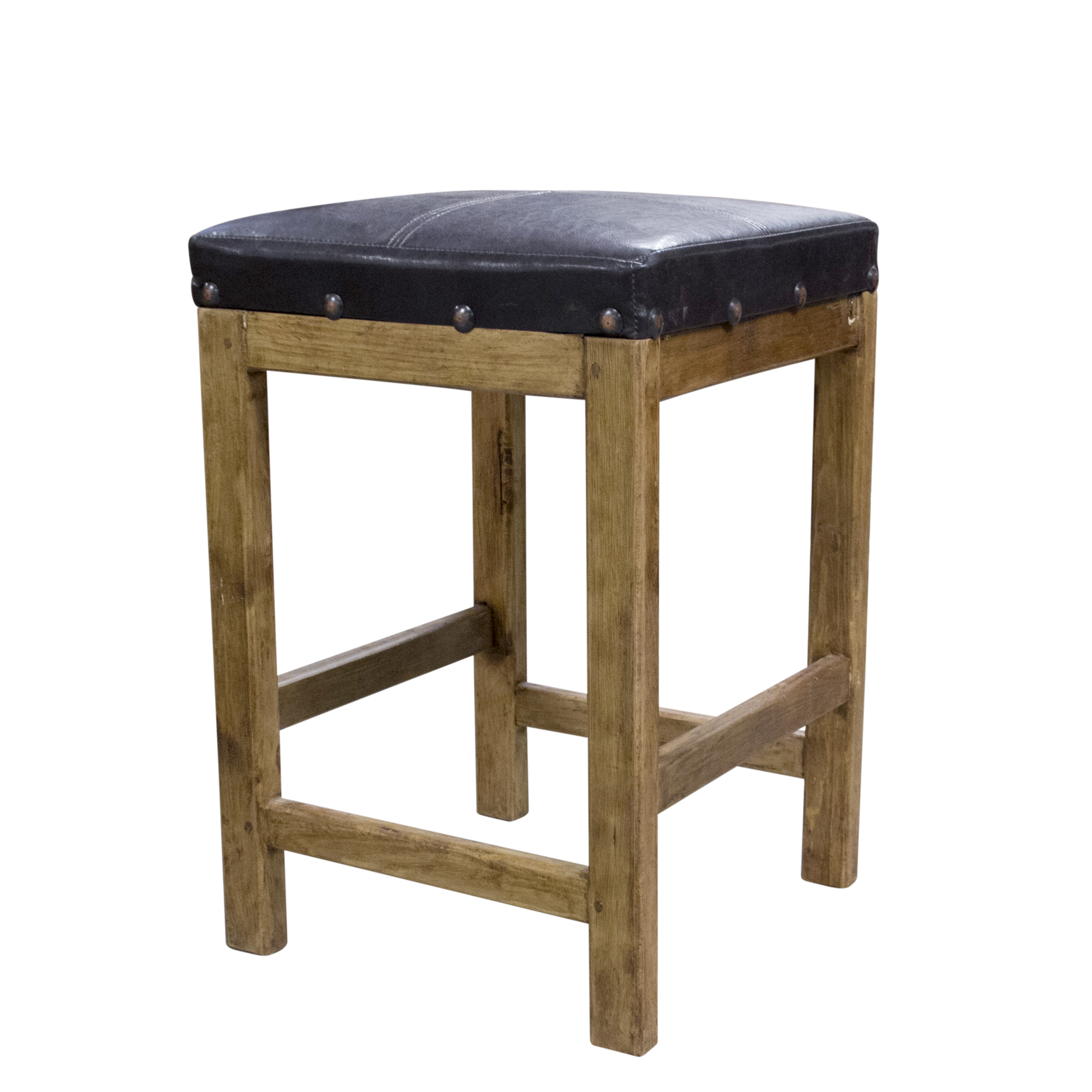 Rustic Style Bar Purchase Captain S Leather Bar Stool Online Perfect Addition For