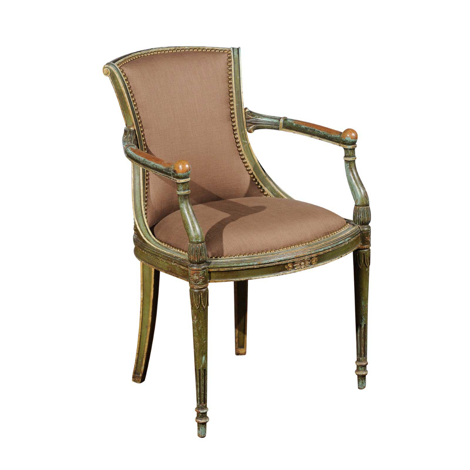 Fauteuil French Chair Newly Upholstered Foxglove