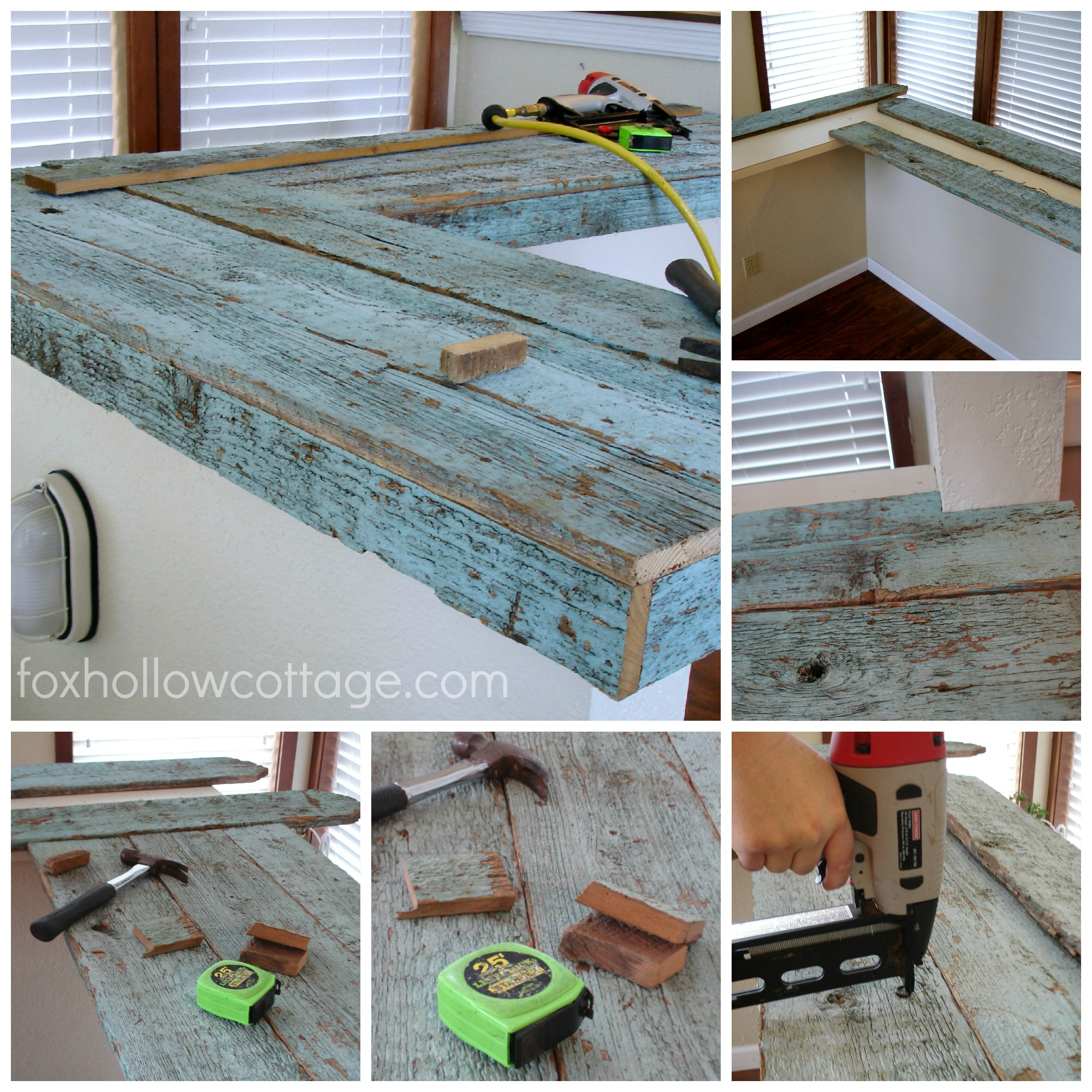 How To Make Wood Kitchen Countertops How To Make A Wood Fence Board Countertop Fox Hollow Cottage