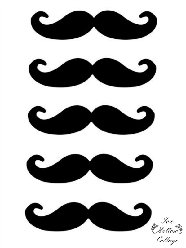 Free Lip and Mustache Printables Photo Booth Props - Fox Hollow Cottage