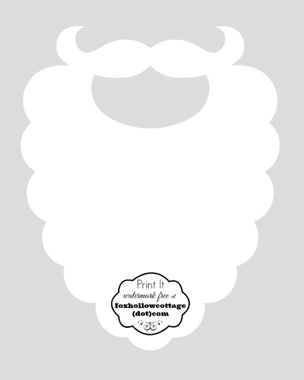 Free Christmas Printable Santa Hat and Beard Photo Booth Props - Fox