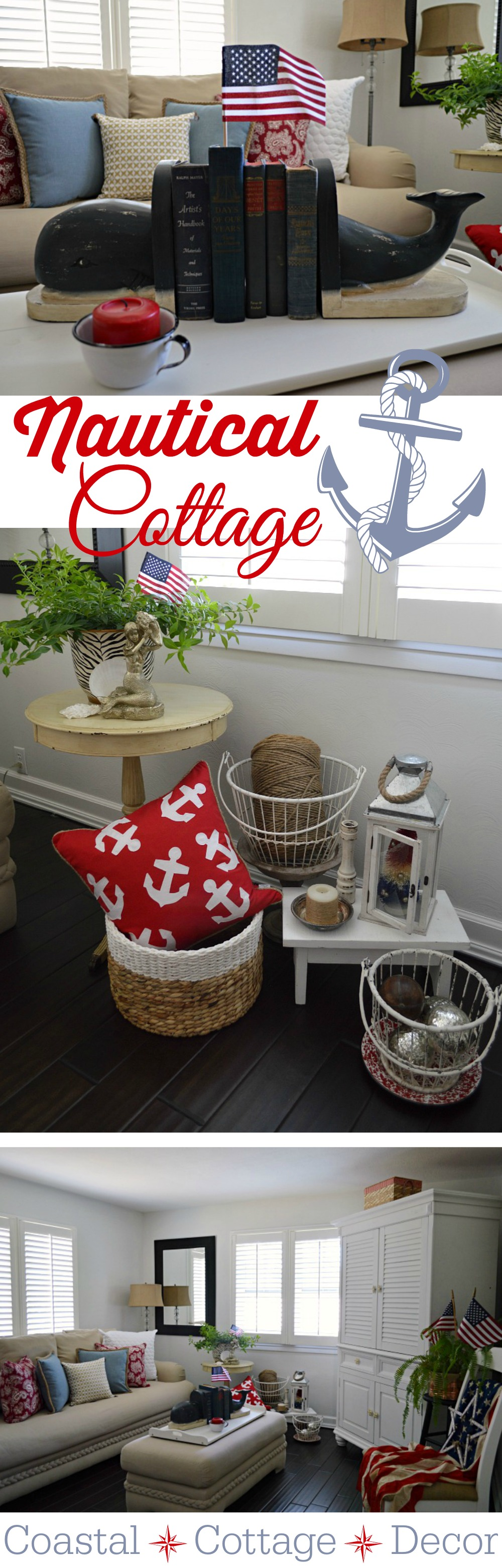 Nautical House Decor Summer Cottage Nautical Home Decorating Fox Hollow Cottage