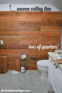 Fence Board Planked Wall How To - Fox Hollow Cottage