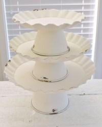 Vintage Cottage Cake Stand Decorating Ideas