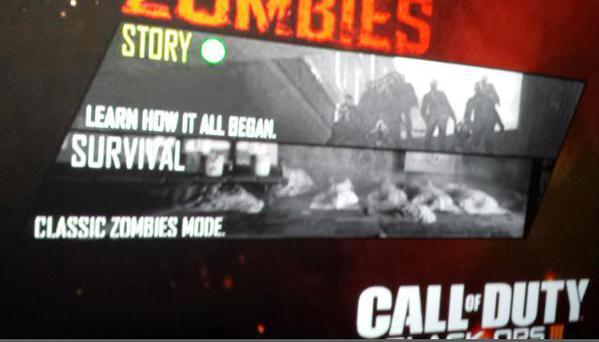 CoD:BO3:ゾンビ画像リーク?「ストーリー」と「サバイバル」の2種のモード登場?
